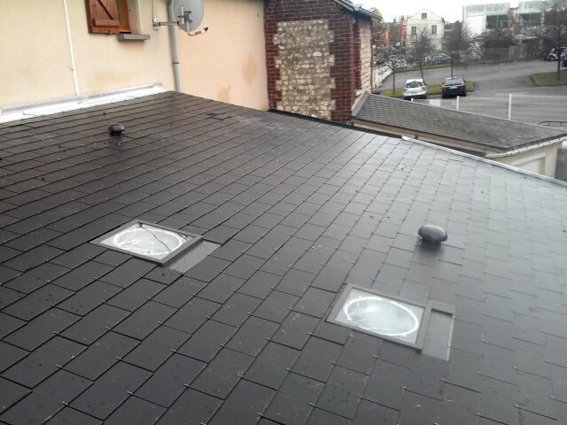 Réalisation d'une toiture mono pente en ardoise à Petit Quevilly