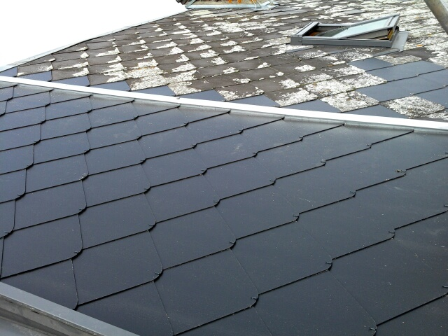 Rénovation toiture fibre ciment à Oissel