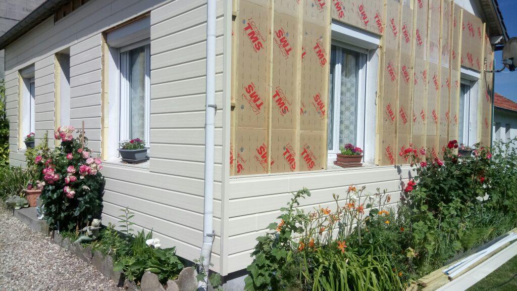 Isolation thermique par l'extérieur bardage PVC les Essarts