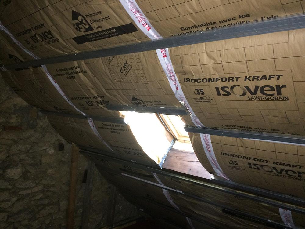 Isolation intérieure d'une toiture à Sotteville Les Rouen