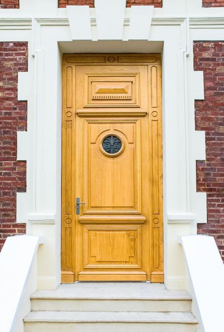 Menuiserie porte extérieure bois Louviers