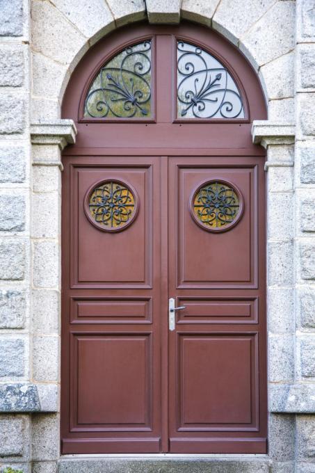 Menuiserie porte extérieure bois Normandie