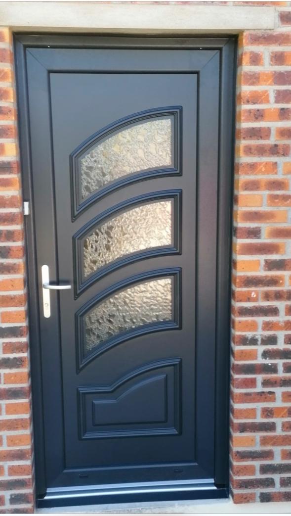 Porte entrée grise anthracite Rouen