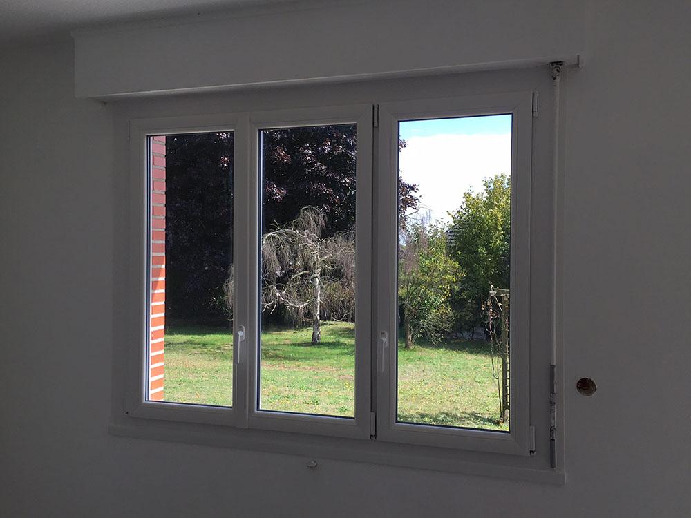 Rénovation et pose de fenêtres PVC Oknoplast à Belbeuf dans la région de Rouen