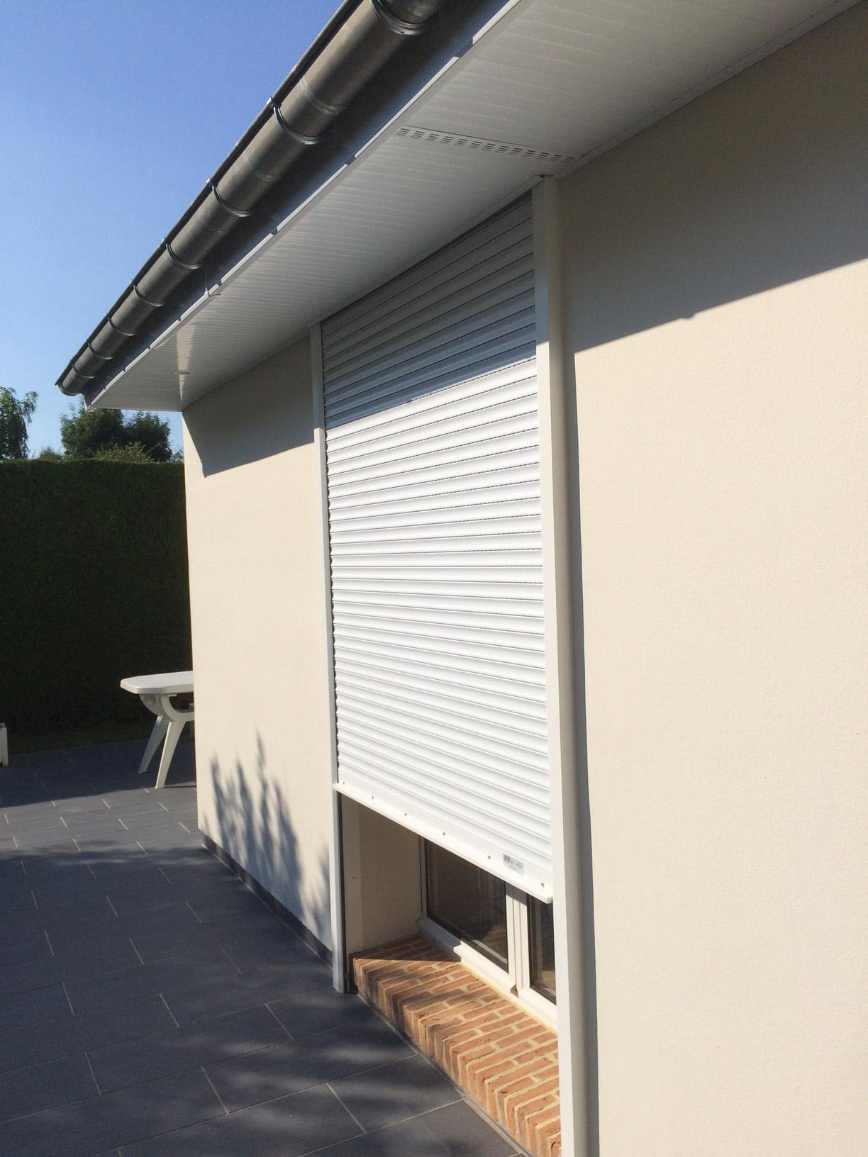 Rénovation de caches moineaux PVC  à Bonsecours près de Rouen (Normandie)