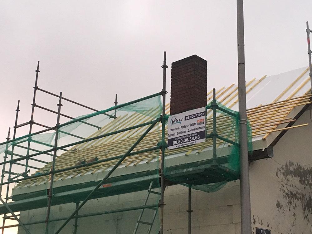 Rénovation et remplacement d'une toiture à Sotteville les Rouen