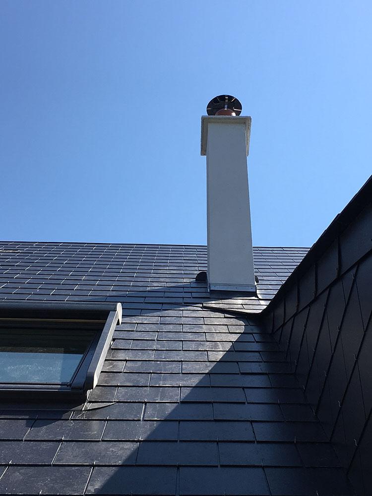 Fourniture et pose d'une toiture en ardoises Dolmen à Ymare (plateau Est de Rouen)